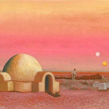 Luke Skywalker at the Lars Homestead, Tatooine