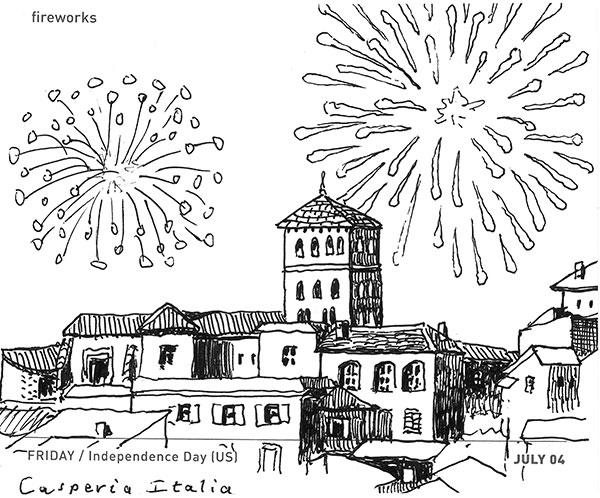 Fireworks Casperia Italy