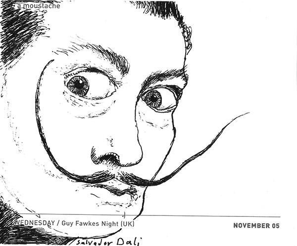 Moustache Salvador Dali