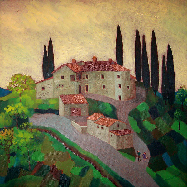 Tuscan Farmhouse, Evening Light