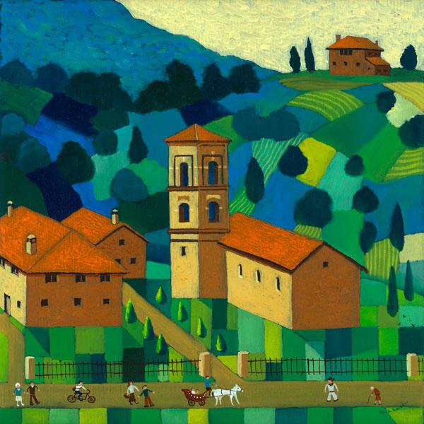Visiting Papa in Tuscany